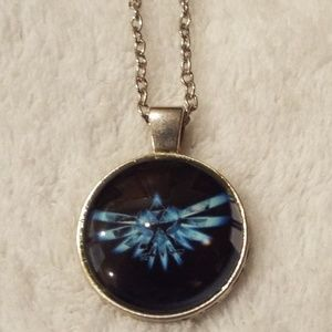 Legend of Zelda TriForce cabochon necklace new